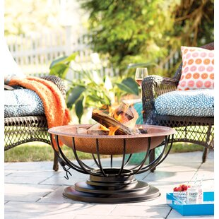 Plow & Hearth Copper Wood Burning Fire Pit