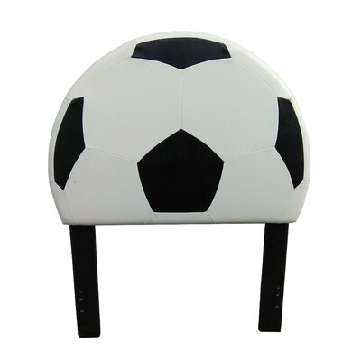 Zoomie Kids Overton Soccer Twin Upholstered Headboard