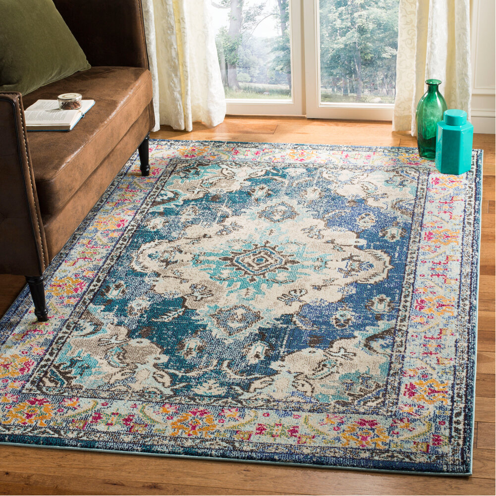 Surprising Annabel Navy Light Blue Area Rug Gmtry Best Dining Table And Chair Ideas Images Gmtryco