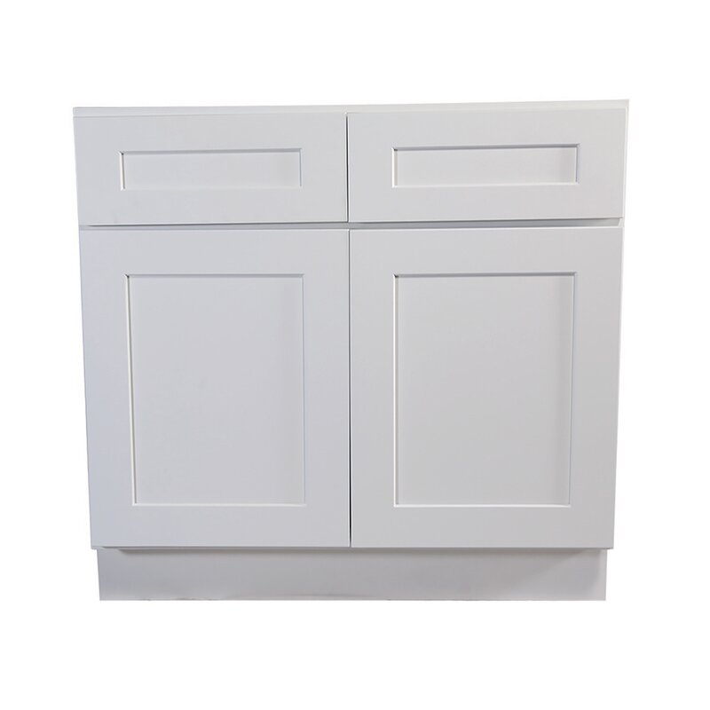 Ebern Designs Frits Fully Assembled 48x34 5x24 In Kitchen Base Cabinet In White Wayfair