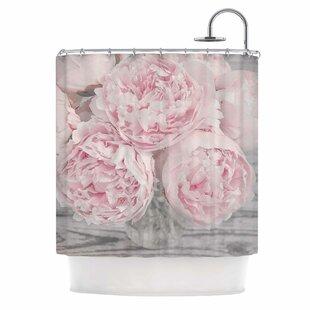 Peony Flowers Single Shower Curtain
