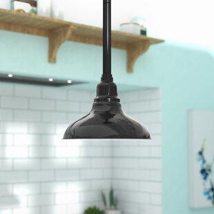 Latitude Run Idella Steel 1-Light LED Dome Pendant
