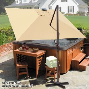 Fiorentino Hanging Solar Powered 10' Cantilever Umbrella