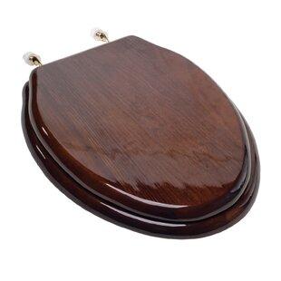 family toilet seat wood. Designer Solid Wood Elongated Toilet Seat Seats You ll Love  Wayfair