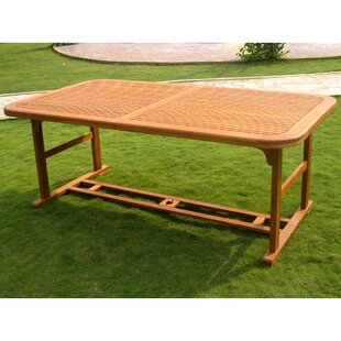 Kirkpatrick Patio Extendable Wooden Dining Table