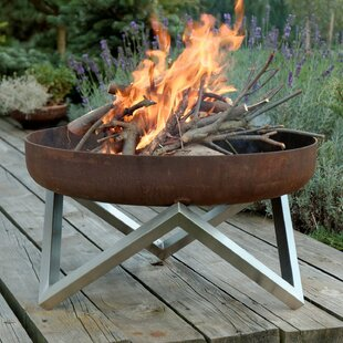 Ramona Stainless Steel Charcoal/Wood Burning Fire Pit By Sol 72 Outdoor