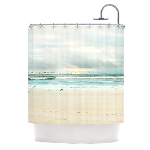 Flight Polyester Single Shower Curtain