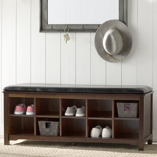 Charlton Home Benton Cape Anne Storage Bench