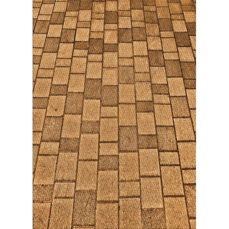 East Urban Home Glenhaven Geometric Wool Orange Area Rug Wayfair