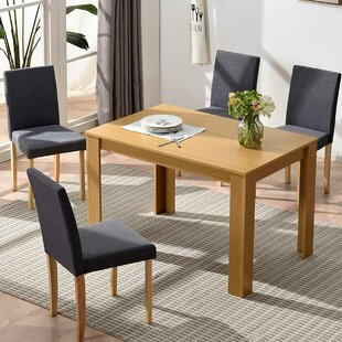 Review Aibhlinn Dining Set With 4 Chairs