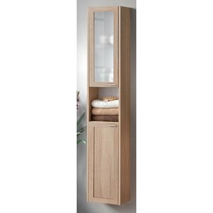 30 x 160cm wall mounted tall bathroom cabinet