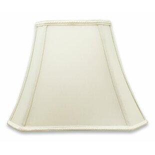 Cut Corner 16'' Silk/Shantung Bell Lamp Shade