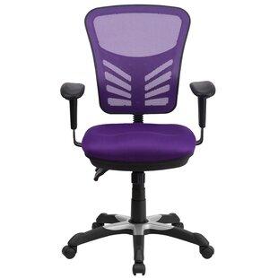Purple Mesh Office Chairs