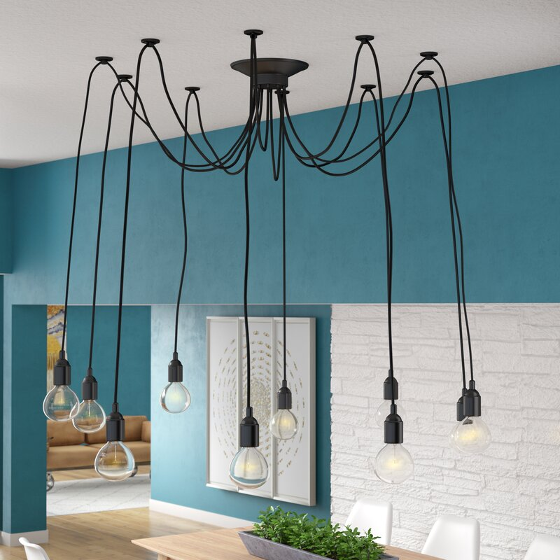 Defrancisco 10 Light Cer Chandelier