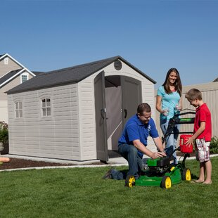 8 Ft. W X 12.5 Ft. D Plastic Garden Shed By Lifetime