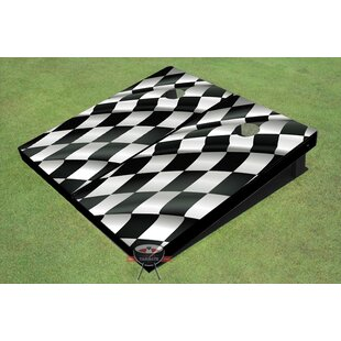 All American Tailgate Checkered Flag Cornhole Board (Set of 2)