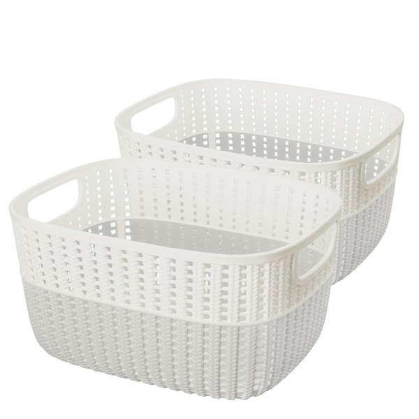 2 Tone Decorative Storage Plastic Basket