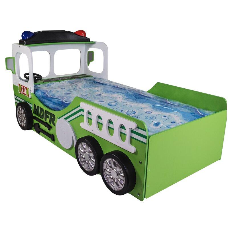 Zoomie Kids Henegar Toddler Fire Truck Bed | Wayfair