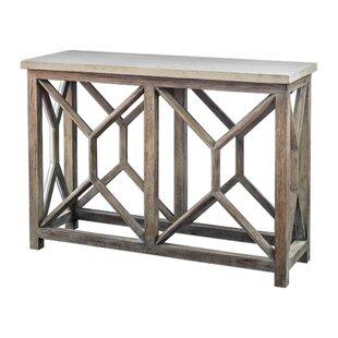 Brayden Studio Niemann Stone Console Table