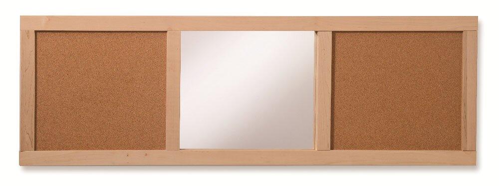 Mirror Panel Wall Mounted Bulletin Board