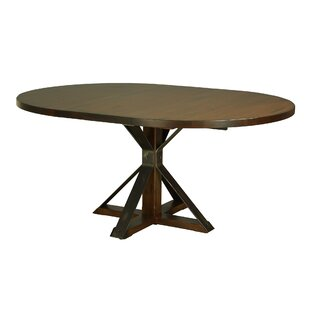 Gracie Oaks Palice Solid Wood Dining Table