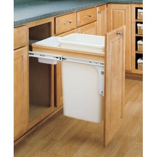 Rev-A-Shelf Double Top Mount 12.5 Gallon Pull Out/Under Counter Trash Can