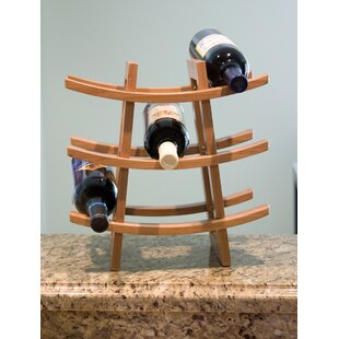 Lipper International 9 Bottle Tabletop Wine Rack