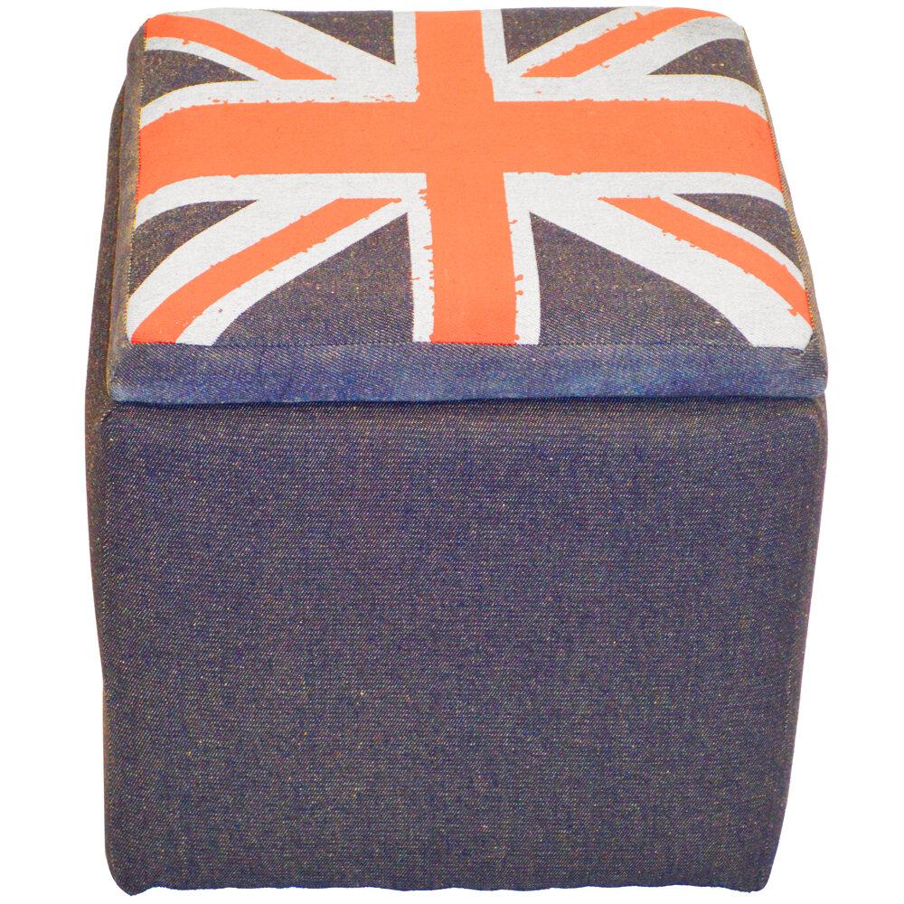 Lovely House Additions Union Jack Flag Storage Ottoman | Wayfair.co.uk EM18