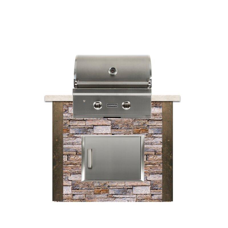 "RTA Outdoor Living 48"" 2-Piece 2-Burner Natural Gas BBQ ..."
