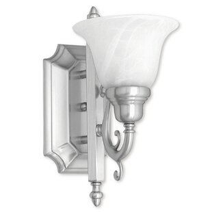 Price Check Christiansburg 1-Light Wall Sconce By Red Barrel Studio