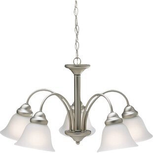 Andover Mills Barnstormer Traditional 5-Light Shaded Chandelier