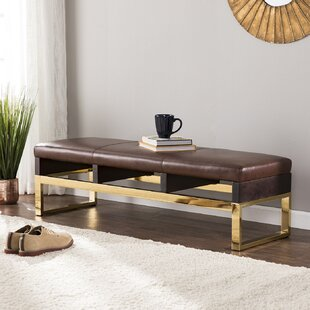 Ivy Bronx Lower Failand Faux Leather Bench