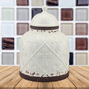 Ceramic Cross Cookie Jar