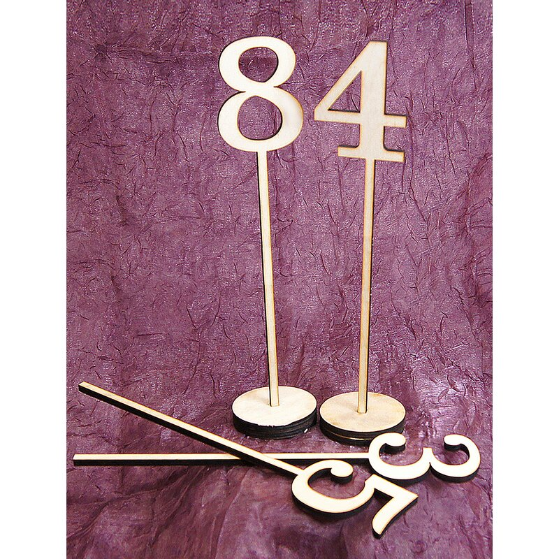 Amonogramartunlimited 10 Piece Numbers Standing Wooden Table Top Decor Set Wayfair