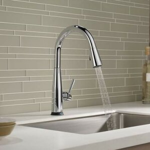 essa single handle pull down standard kitchen faucet with touch2o - Modern Kitchen Faucets