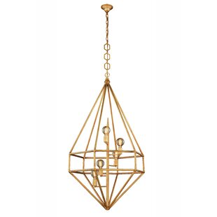 Jayme 5-Light Geometric Chandelier by 17 Stories