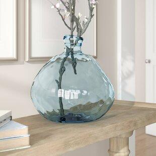 Greely Smokey Blue 13'' Glass Table Vase