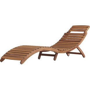 Tifany Wood Outdoor Chaise Lounge
