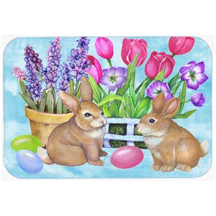 New Beginnings Easter Rabbit Glass Cutting Board