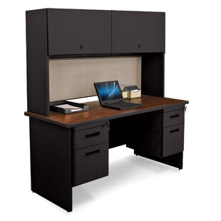 Marvel Office Furniture Pronto Door and Lock Computer Desk with Hutch