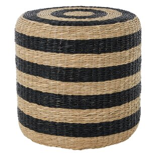 Carolina Seagrass Pouffe Stool By August Grove