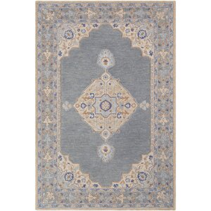 Edgerly Hand Tufted Wool Khak/Gray Area Rug