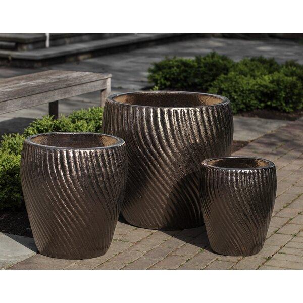 Latitude Run Vortex 3 Piece Terracotta Pot Planter Set Wayfair
