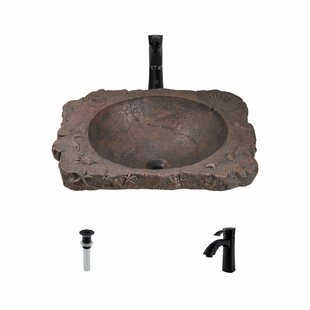 MR Direct Seabed Bronze Rectangular Vessel Bathroom Sink With Faucet