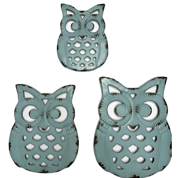 Metal Owl Decor Wayfair