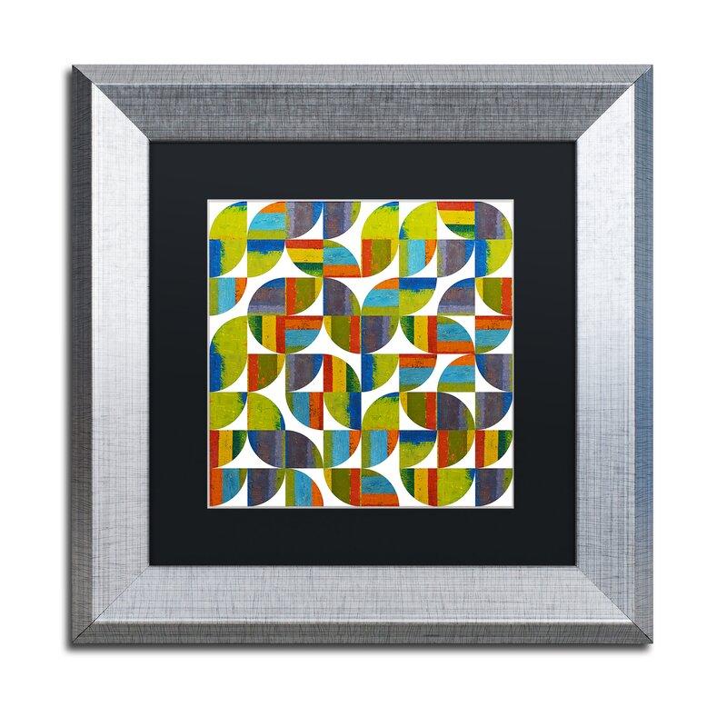 Trademark Art Quarter Rounds 5 0 By Michelle Calkins Framed Painting Print Wayfair