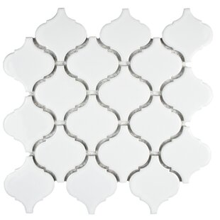 Retro Porcelain Mosaic Tile in Glossy White