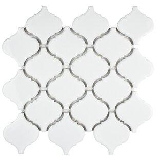 Retro Porcelain Mosaic Tile in Glossy White