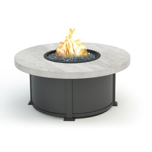 Coffee Polyresin and Aluminum Propane/Natural Gas Fire Pit Table