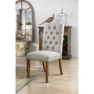 Emmalee Tufted Upholstered Parsons Chair in Gray Set of 2 by Gracie Oaks